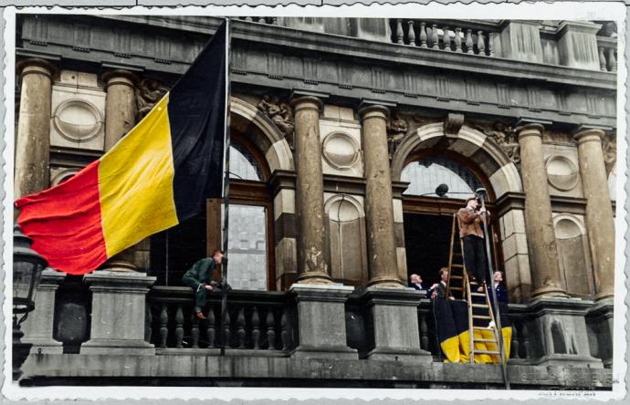 Antwerpen - Stadhuis - Bevrijding September 1944