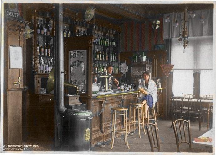 Antwerpen - Hotel / Café L'Avenue - begin van de 20ste eeuw