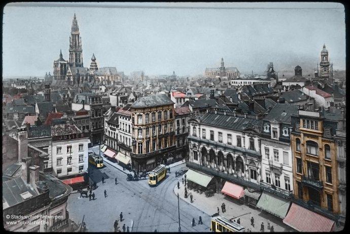 Antwerpen - Meir / Meirbrug - Omstreeks 1900