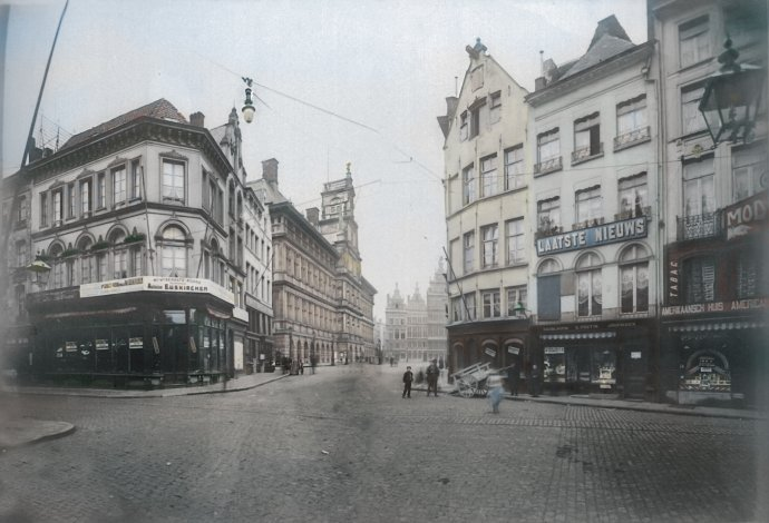 Antwerpen- Hoek Grote Markt - Suikerrui 1898